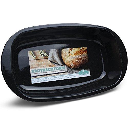 Hausfelder große Brotbackform Kastenform für Brot und Braten   Premium Emaille Oberfläche   Spülmaschinenfest   Bräter und XL Brotform Ofenform für große Brote
