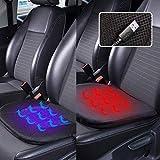 Auto Heizkissen, MAXTUF Auto Sitzheizung DC 12V 2 in 1 USB Kühlung- und Heizfunktion 2 Heizstufen Sitzauflage für Auto KFZ Haus Büro Blutzirkulation Fördern