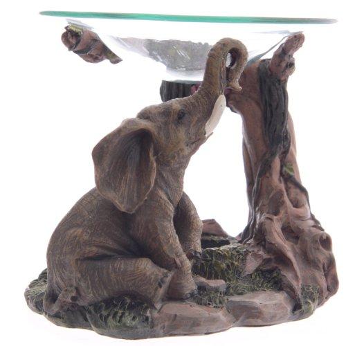lotusandlime - Quemador de Aceite, Color Gris Elefante, 15 cm