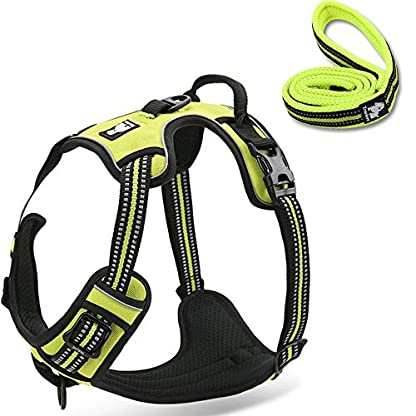 fiE FIT INTO EVERYWAY Range Of Front Side No Pull Dog Harness Outdoor Adventure 3M Reflective Pet Vest with Handle… 1