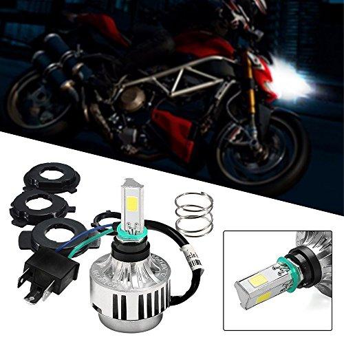 Motorrad Scheinwerferlampe LED Abblend-/Fernlichtset H4 Lampe, 24W 2500 Lumen 6500K diamond weiss, 3-seitig Nachrüstung Kit