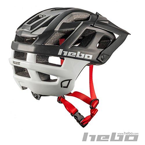HEBO Casco Bici Crank 1.0, Negro y Blanco, 55-58 cm
