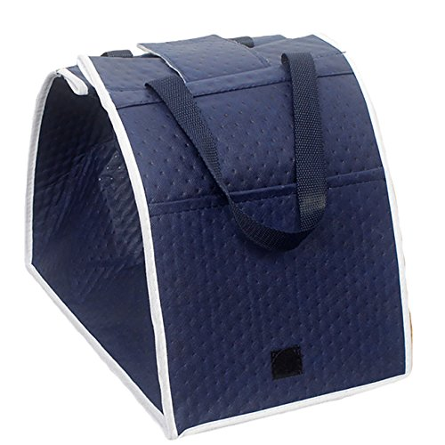 THEE Foldable Supermaket Shopping Tote Thermal Insulation Bag with Handle Cart Grab Bags (Cart Cooler Bag)