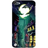 For Apple IPod Touch 5 Halloween Home, Home, Building, Moon, Cloud Designer Printed High Quality Smooth Matte Protective Mobile Pouch Back Case Cover By BUZZWORLD