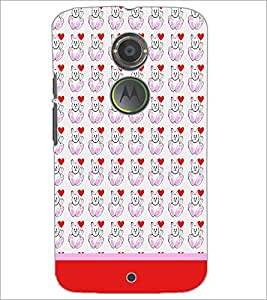 PrintDhaba Money Pattern D-1930 Back Case Cover for MOTOROLA MOTO X2 (Multi-Coloured)