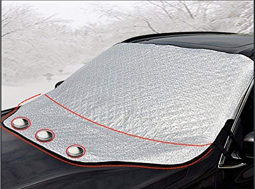 iZoeL Magnetische Frontscheibenabdeckung Auto Frontscheibe Frostschutz Sonnenschutz Schneeschutz Windschutz Eisschutz Abdeckung 147CM*116CM für Standard Auto