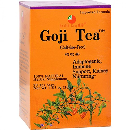 Tea Goji 20 Bags by Health King Medicinal Tea (English Manual)