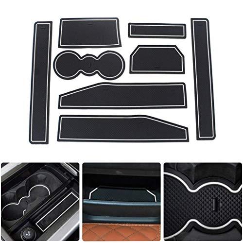 Preisvergleich Produktbild SUPAREE Auto Matte rutschfeste Matte Innentür Slot Mat Center Organizer Aufbewahrungsbox rutschfeste Silica Liner Für 2012-2015 Evoque