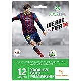 Xbox Live Gold 12-Month Membership Card With 1 Bonus Month - FIFA 14 Branded (Xbox 360) [Importación Inglesa]