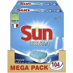 Sun Tablettes Lave-Vaisselle Tout-en-1 Standard 104 Lavages (Lot de 2x52 Lavages)