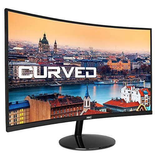 HKC 24A9 gewölbter LED-Monitor, Full-HD 1920 x 1080, HDMI, VGA, Schwarz – 24 Zoll