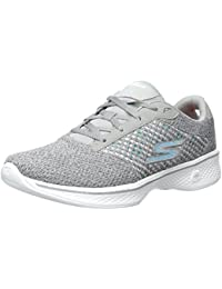 Skechers Go Walk 4 Exceed Gris Mujeres Trainers Zapatos