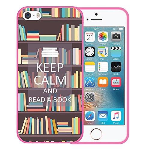 iPhone SE iPhone 5 5S Hülle, WoowCase Handyhülle Silikon für [ iPhone SE iPhone 5 5S ] Hund Fußabdruck Handytasche Handy Cover Case Schutzhülle Flexible TPU - Transparent Housse Gel iPhone SE iPhone 5 5S Rosa D0292