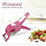 #2: Floraware Veg Cutter Sharp Stainless Steel 5 Blade Vegetable Cutter with Peeler 2 in 1