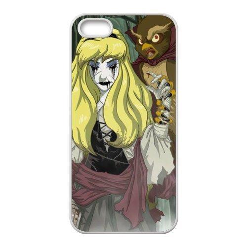 Apple iPhone 5/iPhone 5S Case Coque de protection Case-Zombie Princess TPU Étui Coque de Protection pour iPhone 55S (Blanc/Noir)
