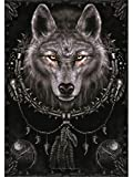 Heart Rock Flagge Original Spiral Collection Wolf Dreams,