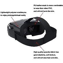 Casco de realidad virtual Loitent 3D VR con lentes de ajuste, auricular VR y correa para iPhone, Samsung, LG, todos los teléfonos inteligentes de 4,0 a 6,0 pulgadas