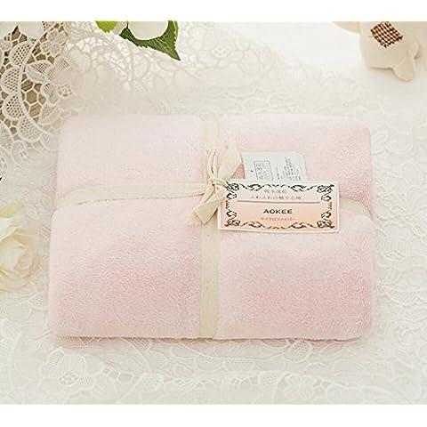 X&L Home Fotografia soft scorrevole filato acqua più bagno asciugamani , cherry blossoms powder , 150*75