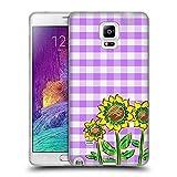 Head Case Designs Officiel Grace Illustration Tournesol Fleurs Coque en Gel Doux Compatible avec Samsung Galaxy Note 4