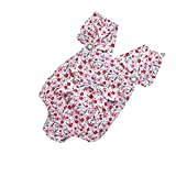 Janly Säugling Neugeborenes junge Mädchen Overall Print Outfit + Bowknot Brosche (12 Monate)