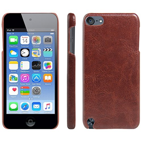 HualuBro iPod Touch 5./6. Generation Fall, iPod Touch 5/6 Schutzhülle, HL Brothers [alle um Schutz] Leder Wallet Flip-Telefon Schutzhülle Für Apple iPod Touch 5./6. Generation Leather Cover Brown