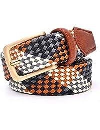 WANSGN Cinturones para Mujer Cinturón Trenzado para Amantes Cinturón para  Hombres 3 ce5a3818e7e8
