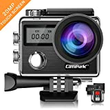 Campark Action Cam X20 HD 20MP 4K WiFi Touch Screen Macchina Fotografica Subacquea 30M con Custodia Impermeabile, Doppio