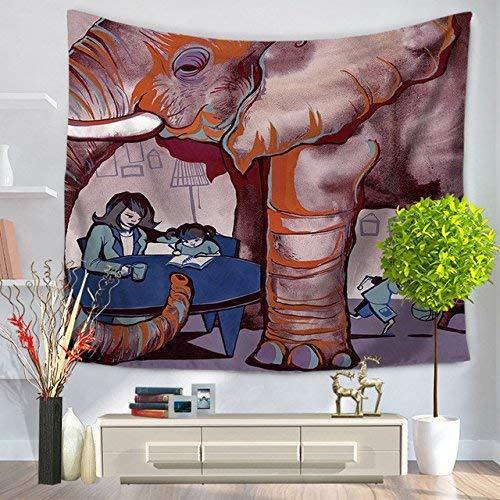 Eeayyygch Tapices de Pared Decorados con Elefantes de Estilo Indio, B, Rectangular...