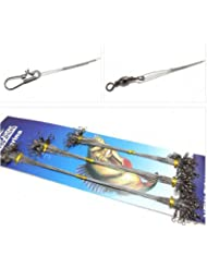 Impermeable anti Bite alambre de acero línea de pesca con el anillo Pin 1 Set