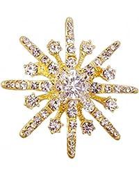 LAAT Mujer Broche Forma de copo de nieve Broche Pin Decoración Broche bisuteria Regalos para Compartir