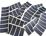 80Etiketten 50x 20, rechteckig, schwarz Farbe Code Aufkleber, selbstklebend Farbige Etiketten