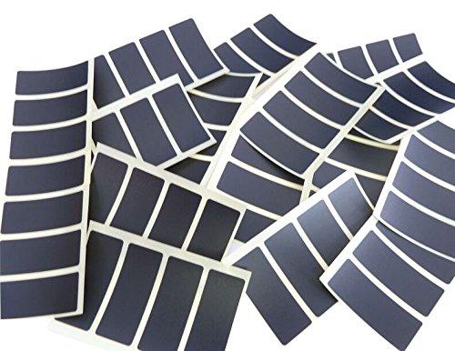 80 Etiketten, 50 x 20 mm, rechteckig, schwarz, Aufkleber, selbstklebend, Klebeetiketten