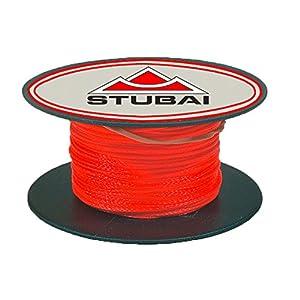 Stubai 443105 Cordel de albañil en carrete (diámetro de 1 mm, 50 m) color rojo, 1mm