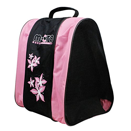Basong Schlittschuhtasche Kinder Damen Tasche für Schlittschuhe Skateschuhe Rollschuhe (rosa)