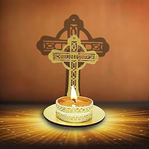 Diwali Deepawali traditionnel décoratifs Shadow Diya en forme de croix pour Home/Office.. religieux