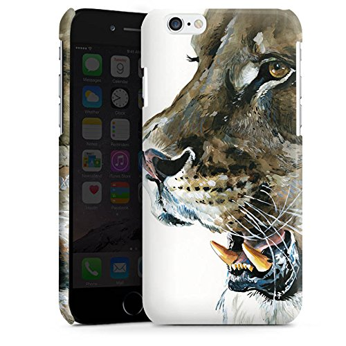 Apple iPhone 4 Housse Étui Silicone Coque Protection Loewe Lions Félin Cas Premium brillant