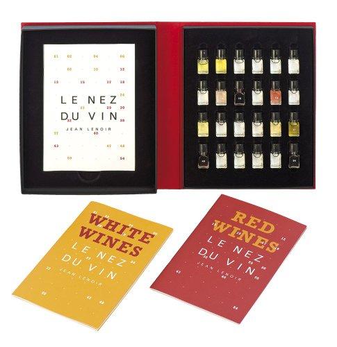 Le Nez du Vin : Duo Les Vins Blancs et le Champagne + Les Vins Rouges 24 arômes (en anglais) (coffret toile)