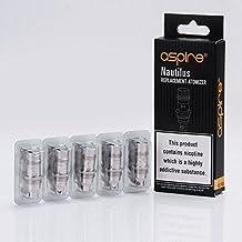 Aspire Nautilus BVC 0.7ohm Bobinas de repuesto (paquete de 5) para Aspire Zelos / Nautilus 2 Tank E-Cigarette, Sin Tabaco y Sin Nicotina