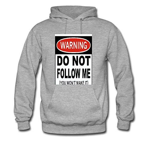 weileDIY Dont Follow Me, You Wont Make It DIY Custom Womens Printed Hoodie Sweatshirt Gray_B