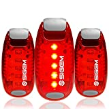 Luces LED de seguridad (3 unidades). Clip en luz estroboscópica intermitente de alta visibilidad para correr, correr, caminar, ciclismo, para perros, casco de bicicleta, luz trasera de bicicleta,