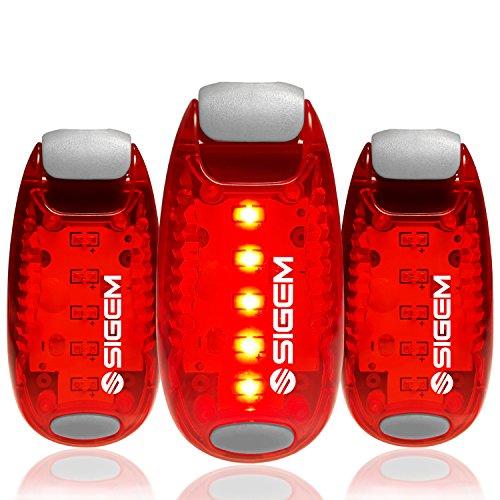 LED Sicherheit Licht (3 Stück) + Gratis Bonus | Clip auf Strobe Blinklicht Hohe Sichtbarkeit für Running Joggen Walking Radfahren für Kinder Hunde Fahrrad Helm Bike Rücklicht