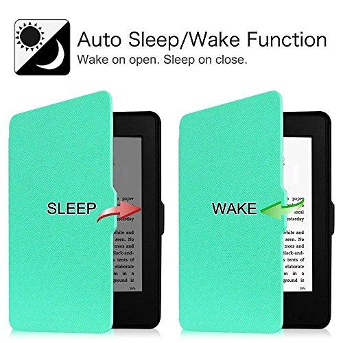 Fintie Kindle Paperwhite Hülle - Die dünnste und leichteste Smartshell Case Schutzhülle Tasche mit auto Sleep / Wake für den neuen Kindle Paperwhite 2016 (mit 300 ppi-Display, 6 Zoll, und integrierter Mint Grün