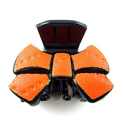 rougecaramel - Accessoires cheveux - Mini pince crabe cheveux fantaisie 2.5cm - orange