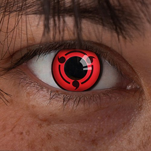 haringan Kontaktlinse Spin -Deckende,farbige Jahreslinsen für dunkle und helle Augenfarben ohne Stärke,Farblinsen für Cosplay,Karneval,Fasching,Motto-Partys und Halloween Kostüme (La Live-halloween-events)
