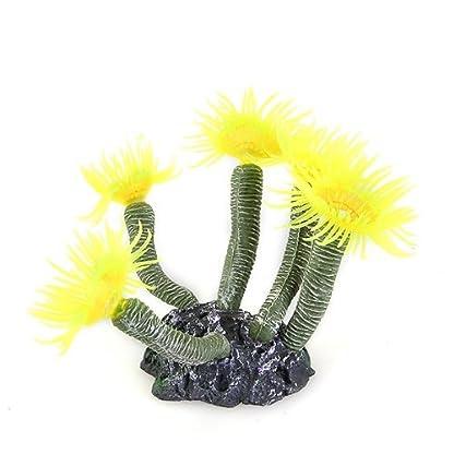 SODIAL(R) Aquarium Fish Tank Silicone Artificial Sea Plant Coral Flower Ornament Deco 7