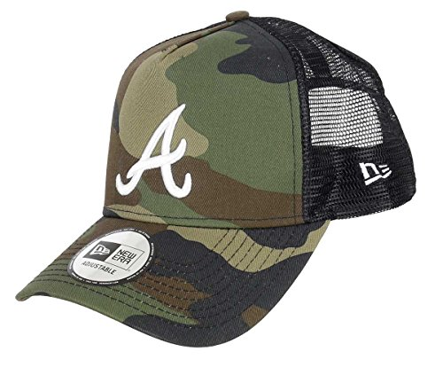 A New Era League Essential Trucker Atlbra Cap, Herren, Grün (wdcwhi), OSFA - Atlanta Braves-snap