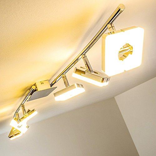 """LED Deckenspot """"Turin"""" - Deckenlampe 6 flammig mit verstellbaren Köpfen und warmweißem Licht - moderner Deckenspot mit einer Lichtleistung von 2520 Lumen"""