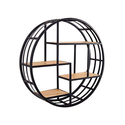 Kxbymx libreria sospesa vintage a parete per soggiorno parete attrezzata fissata a parete in legno (2 misure) scaffale di stoccaggio (colore : 60 * 60 * 20cm)