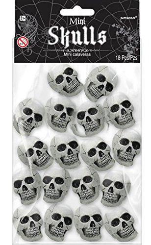 erdbeerloft - Mini Totenköpfe, Halloween Dekoration, 3,8cm x 5cm, 18 Stück, - X Rituali Halloween