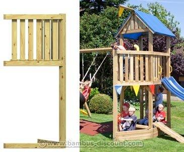 bambus-discount.com Piratenschiffbug für Basis Spieltürme, Holz Bausatz 86x113x231cm - Kinderspielgeräte für Garten, Spielgeräte für Kinder, Spielturm, Spieltürme